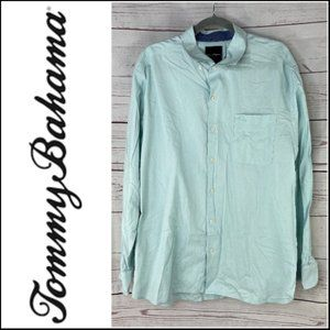 Tommy Bahama Mens Long Sleeve Button Down Dress Shirt Size XL
